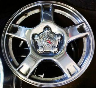 "2000 Chevrolet Corvette Wheels Rims Chrome 17"" 18"" 1999 1998 2000"