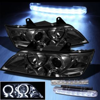 LED Bumper Fog Smoked 96 02 BMW Z3 Halo Projector Headlights Head Lights Smoke