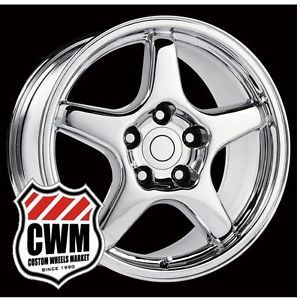 "4 17x9 5"" Corvette C4 ZR1 Replica Chrome Wheels Rims Fit C4 Corvette 84 87"