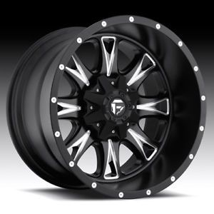 "18"" Fuel Offroad Throttle Wheel Set XD Black 18x9 Rims Ford Chevy Dodge Wheels"