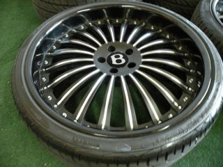 "22"" Bentley Continental 2pc Forged Wheels asanti HRE Tires GT GTC Flying Spur"