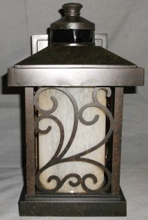 Progress Lighting Cypress Collection Forged Bronze Motion Activated Wall Lantern