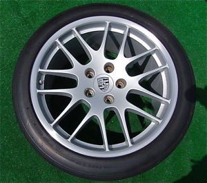 Genuine Factory Porsche Panamera 20 inch RS Spyder Wheels Tires TPM Sensors