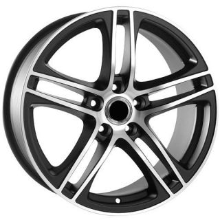 "17"" inch GTI EOS Jetta Passat Black Golf Rabbit CC VW Volkswagen Wheels Rims"