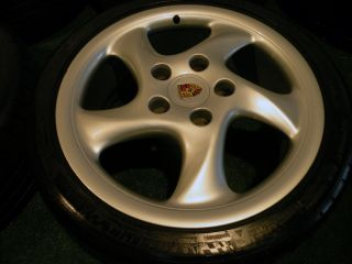 "18"" Factory Porsche Carrera Wheels 911 Narrowbody 993 996 997 Tires C2 C4"