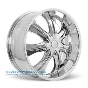 "24"" IROC VW750 Chrome Rims for Chrysler Chevrolet Dodge Ford Wheels"