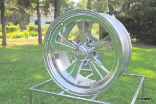 "15 x 6 Rocket ""Strike"" Hot Rod Mag Chevy Ford Wheels Polished Gasser"