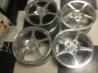 "17 18"" Combo C5 Polished Thin Spoke Style Corvette Wheels"