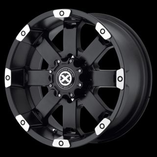 ATX 185 17x8 Chevy Dodge Wheels Black Wheel Ford Jeep