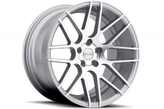 "19"" Ground Force GF07 19x8 5 19x9 5 Concave Silver Wheels Fits Ford Mustang"