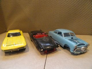 1963 Diecast Vette 1957 T Bird 1949 Ford Parts Cars