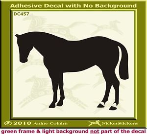 Quarter Horse Trailer Custom Window Decal Sticker 457