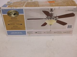 Hampton Bay Wellston 44 in Brushed Nickel Ceiling Fan 619017