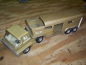 Vintage Old Structo Toy Semi Truck Horse Trailer Vista Dome Collectible