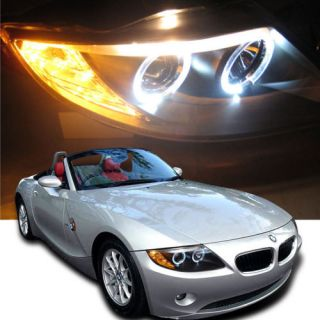 LED Bumper Fog HID Model Only 03 08 BMW Z4 Halo Projector Headlights Head Lights