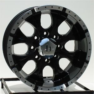 16 inch Black Wheels Rims Chevy GMC 2500 3500 HD Dodge RAM 8x6 5 Lug Helo Maxx 8