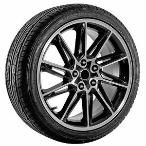 18 inch Black Volkswagen Wheels Rims and Tires Golf Passat EOS Jetta