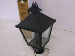 Hampton Bay Beauregard Outdoor Bronze LED Post Top Lantern 413855 HB2105BZ
