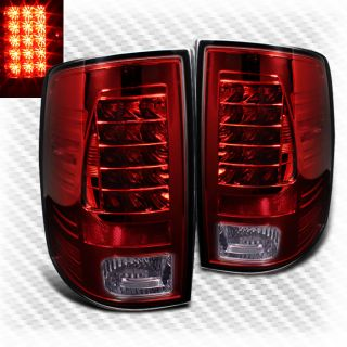 2009 2013 Dodge RAM LED Red Tail Lights Lamps Rear Brake Pair Left Right Set New