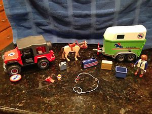 Playmobil 4189 Horse Trailer with Jeep