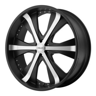 22 inch Helo Black Wheels Rims 5x5 5 5x139 7 15 Dodge RAM 1500 Ford Bronco