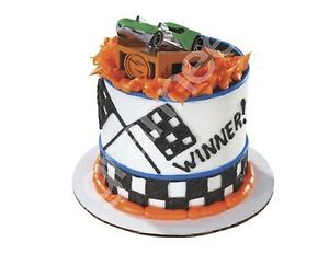 Hot Wheels Action Pack Car Racing Petite Cake Topper