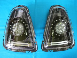2007 2011 Mini Cooper s R56 57 LED Tail Lights Lamps Smoked Black Housing