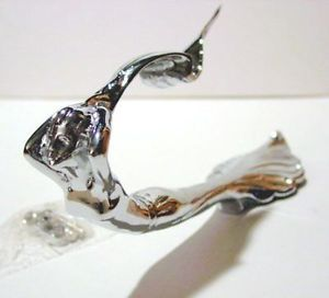 1 Flying Girl Lady Car Truck Hood Ornament Hair Chrome Metal Cadillac Style New