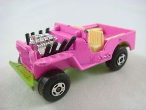 Matchbox Superfast No 2 Jeep Hot Rod Made in England 1971 Lesney Prod Co