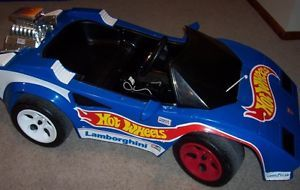 Vintage RARE Fisher Price Power Wheels Ride on Lamborghini Hot Wheels Car VHTF