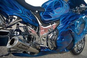 Suzuki Hayabusa 08 12 Brock's Performance Full Exhaust System Stainless Alien