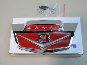New 1961 1966 Ford Truck V8 Chrome Hood Emblem F100 F250 F350