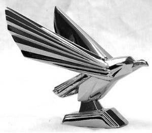 Chrome Retro Eagle Hood Ornament Peterbilt Freightliner Kenworth Semi Truck
