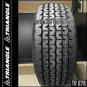 Triangle TR678 425 65R22 5 Super Single Wide Base Dump Truck Tires 22 5