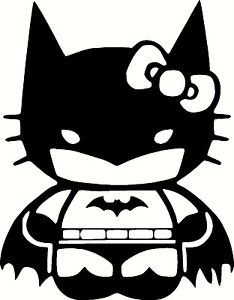 Hello Kitty Batman Car Truck Window Vinyl Decal Sticker