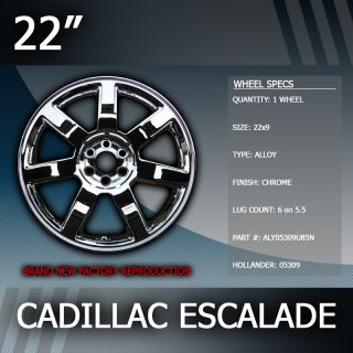 2007 2012 Cadillac Escalade Factory 22 inch Replacement Wheel