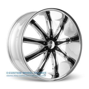 "24"" Dcenti DW29 Wheels Rims Triple Chrome 5x115 300C Charger Magnum Nitro 26 22"