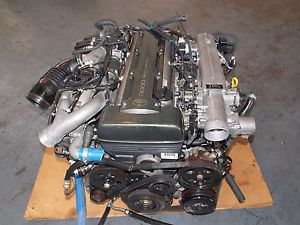 TOYOTA SUPRA 2JZ TWIN TURBO ENGINE SWAP JDM 2JZGTE ENGINE AUTO TRANNY
