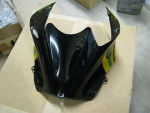 Kawasaki zx14 Fuel Tank Cover 2006 2009 Custom Black Flame Paint