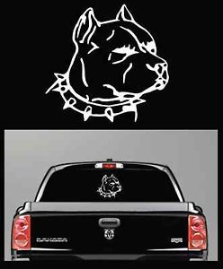 Pitbull Truck Car Decal Window Decals Sticker Large 12""