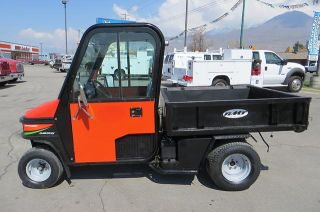 Turf Golf Utility Cart Dump Bed Enclosed Cab Spreader Cushman Truckster