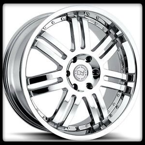 "20"" x 9"" Serengeti Off Road Black Rhino Chrome Navigator Expedition Wheels Rims"