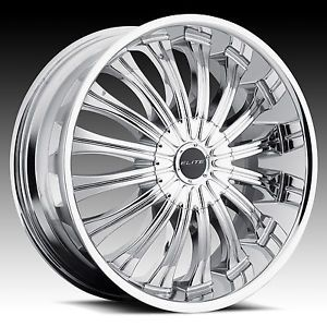 "22"" Elite Monarch Chrome Wheel Tire Package Rims 5 6 Lug Dodge Cadillac Audi"