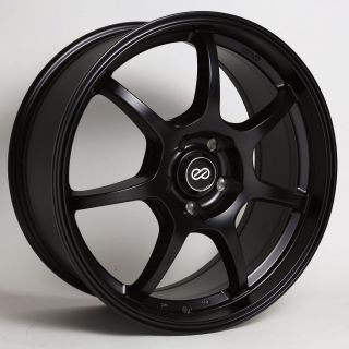16x7 Enkei GT7 Black Wheel Rim s 5x114 3 5 114 3 16 7 ET45