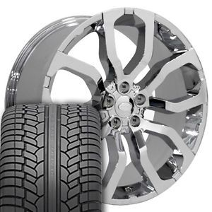 "22"" Chrome Wheels Rims UHP Tires Fit Range Land Rover HSE Sport LR3 LR4"