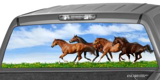 Running Horses Rear Window Graphic Decal Print Tint Truck SUV Pony Van Ponies