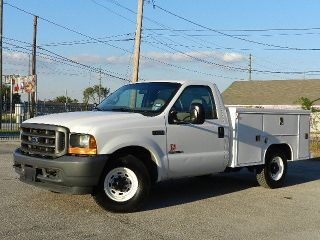 2001 Ford F250 Long Bed Utility Truck 7 3L Power Stroke Diesel Tommy Gate Lift
