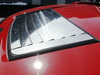 Hummer H3 2006 2009 9pc Polished Stainless Hood Vent Louver Trim