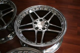 "19"" AC Schnitzer Type 3 2pc Chrome 5x120 Wheel Set"