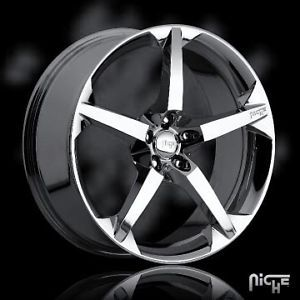 "19"" Niche 19inch 19x8 5 Rhine 5x108 Chrome 45 One Single Replacement Wheel Rim"
